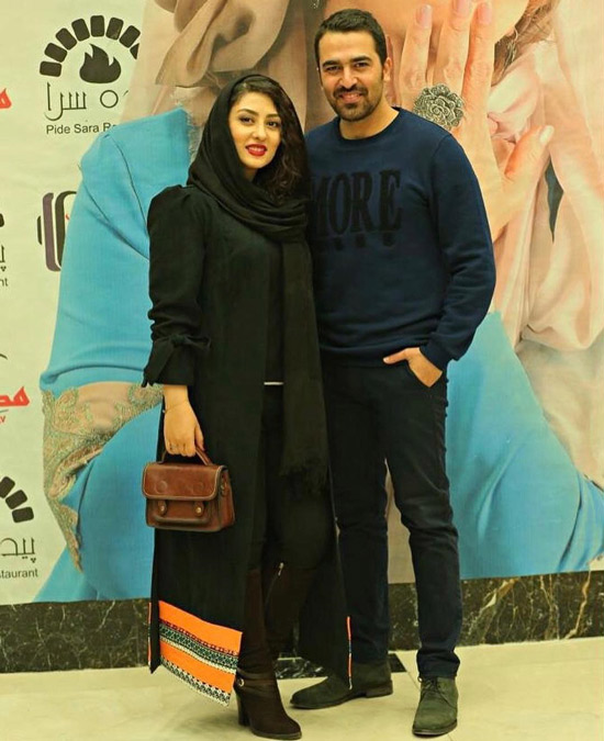 الهام طهموری و همسرش حامد احمدجو