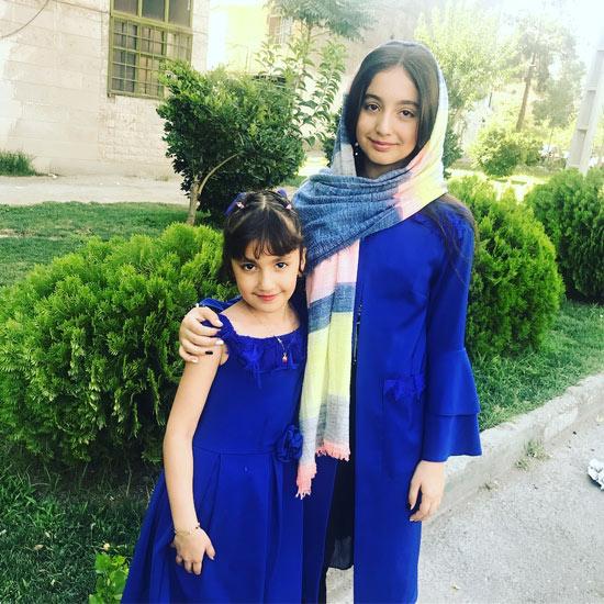 روژان تقی زاده و خواهر کوچکش