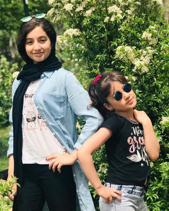 روژان تقی زاده و خواهرش