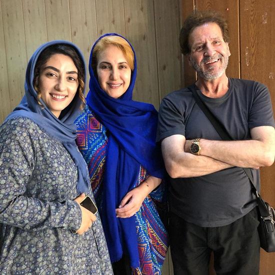 فاطمه گودرزی در کنار ابوالفضل پور عرب و الهام طهموری