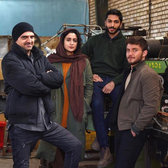 کیسان دیباج و بازیگران سریال از سرنوشت
