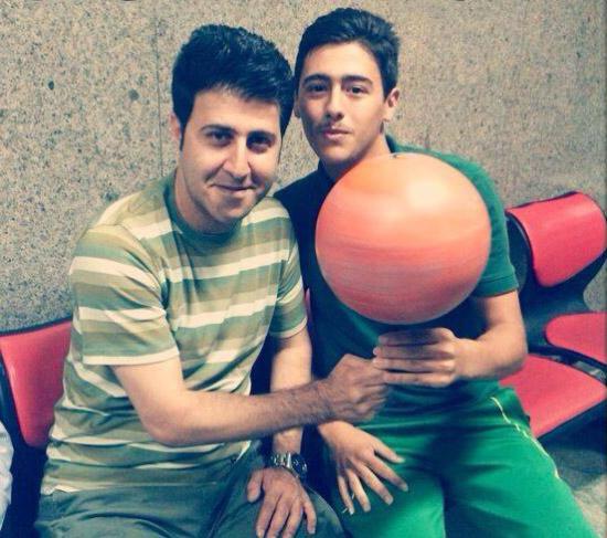 عکس قدیمی از سعید فخاری و هومن حاجی عبداللهی