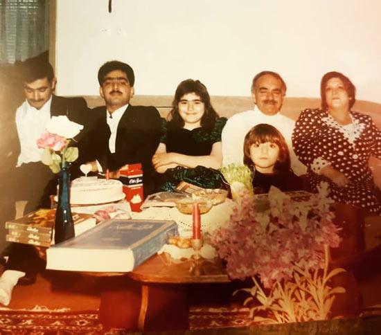 عکس قدیمی از فرزانه سهیلی و خانواده