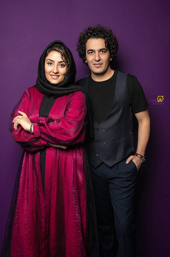 حامد احمدجو و همسرش الهام طهموری