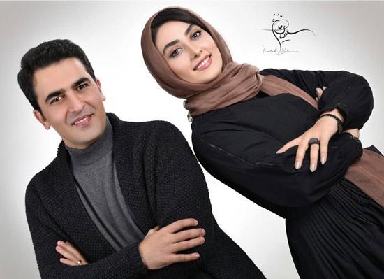 عکس های حامد احمدجو و همسرش الهام طهموری