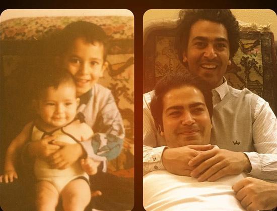عکس کودکی حامد احمدجو و برادرش حسین