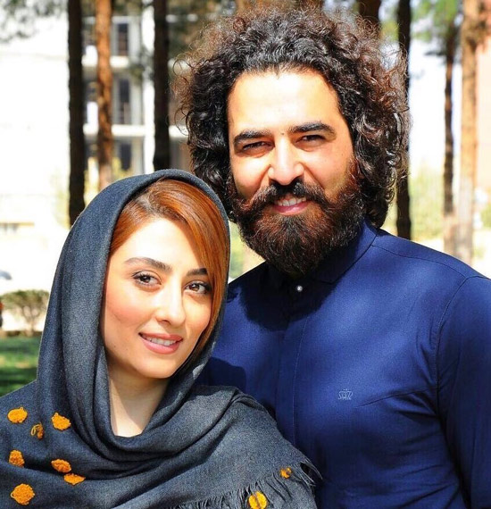 حامد احمدجو و همسرش