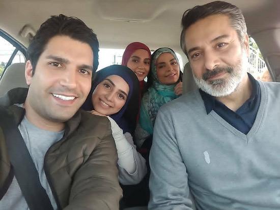 حمید رضا نادری و بازیگران سریال خانه امن