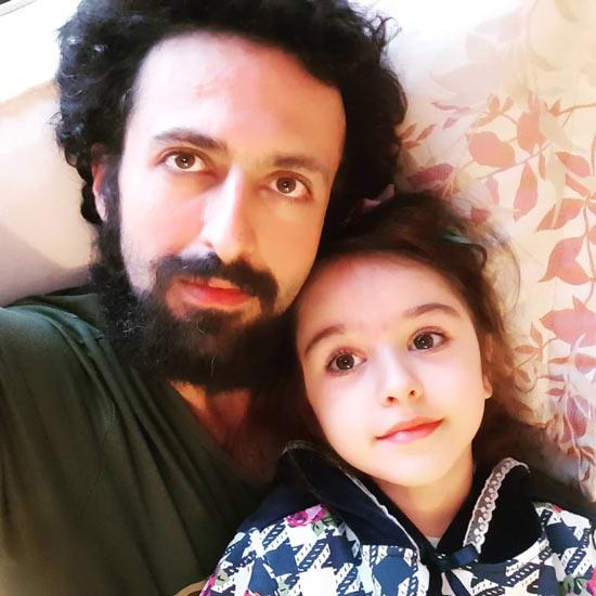 حسام محمودی و دخترش هانا محمودی