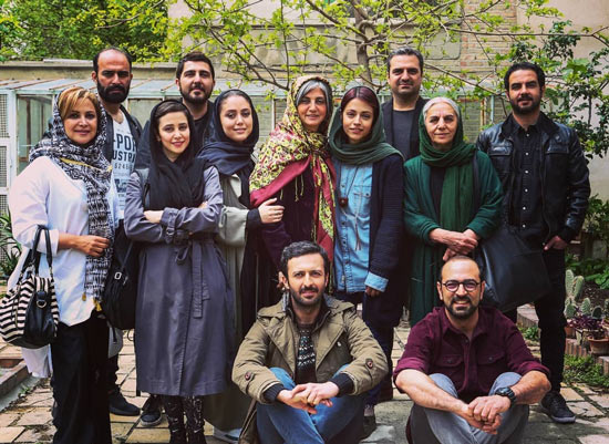 حسام محمودی و بازیگران سریال دلدار