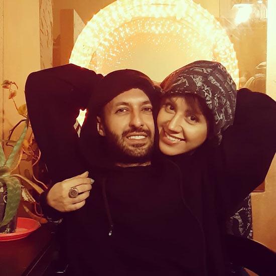 حسام محمودی و همسرش