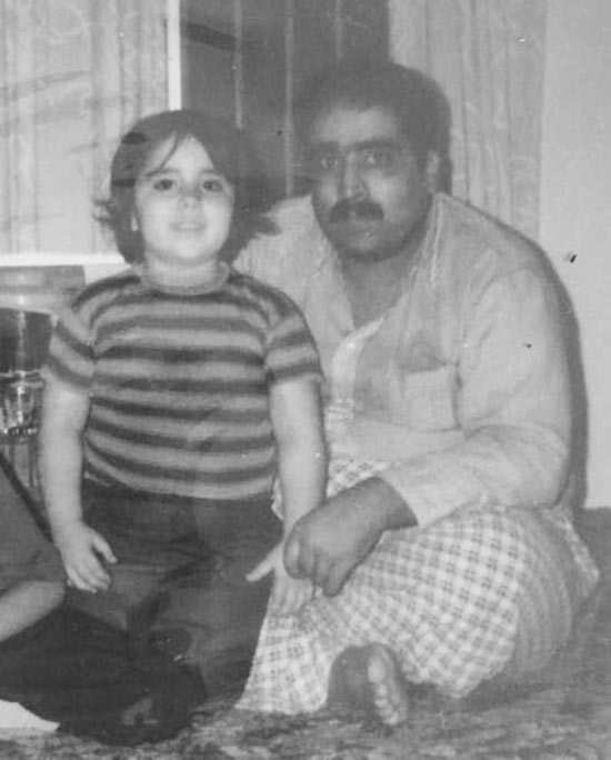 عکس کودکی مهناز کرباسچیان و پدرش